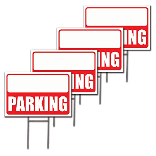12x18 Parking Lawn Sign Kit with Arrow Stickers (4)