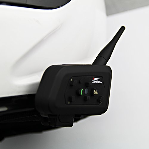 6d28ba40059 LEXIN LX-A4 BT Interphone Bluetooth Motorbike Motorcycle Helmet  Communication Intercom Headset System with Remote