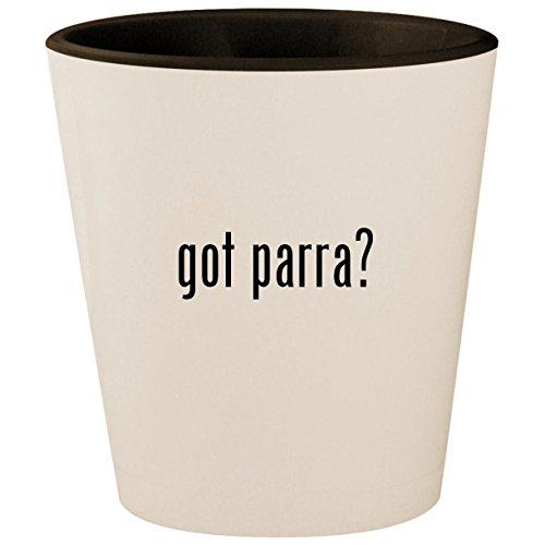got parra? - White Outer & Black Inner Ceramic 1.5oz Shot - Shock Violet G