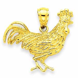 Petits Merveilles D'amour - 14 ct Or 585/1000 rooster Pendentif