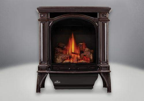 Napoleon Fireplaces Bayfield Direct Vent Cast Iron NG Stove - Brown - Napoleon Direct Vent Stove