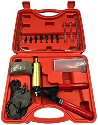 2 en 1 Auto Car Líquido de Freno Adaptador de Purga Cambio de Aceite Mano Pistola de vacío Bomba Tester Kit DIY para Todos los vehículos - Rojo