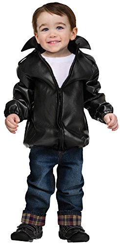 Fun World Boys' Costumes Baby T-Bird Gang Jacket, Black, X-Large]()