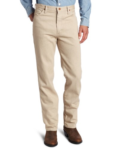 Wrangler Men's Cowboy Cut Original Slim Fit Western Jean,Dark Beige,28x32 (Jeans Pants Tan)