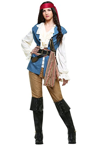 Newdong Women's High Seas Pirate Wench Costume Large ()