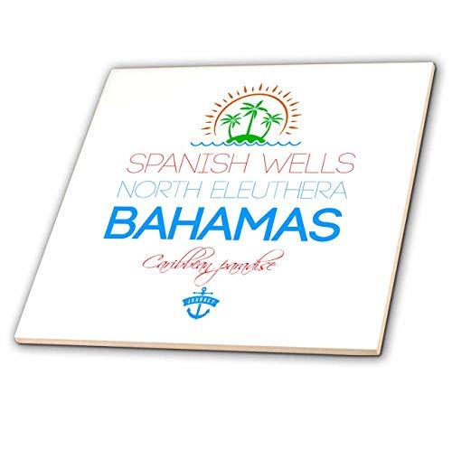 Eleuthera Floor - 3dRose Alexis Design - Caribbean Beaches Bahamas - Spanish Wells, North Eleuthera, Bahamas. Summer vacation gift - 12 Inch Ceramic Tile (ct_318397_4)