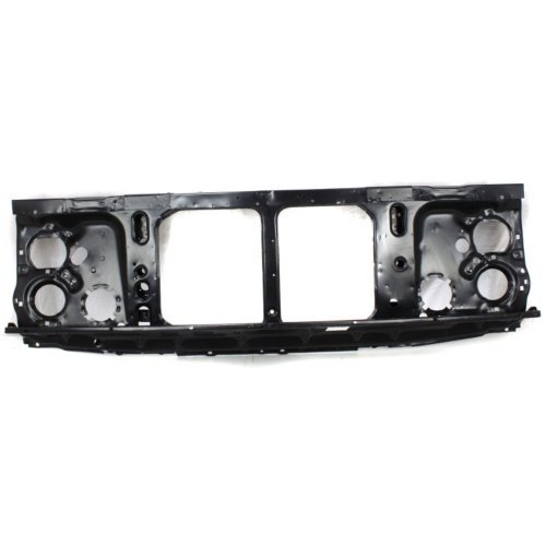 (Radiator Support Compatible with CHEVROLET SUBURBAN 1981-1988 Assembly Black Steel with Single Headlamps)