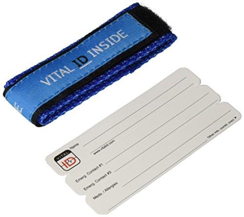 Kids! Adjustable Wrist Band Medical Alert ID Bracelet ~ Blue [Health and Beauty]