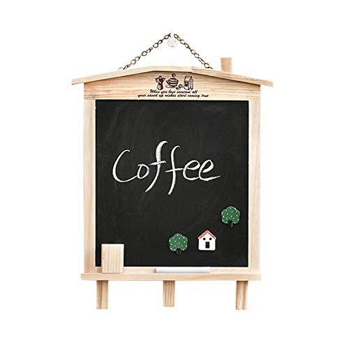 LIANGJUN Message Board Chalkboards Signs Solid Wood Hanging Bracket Coffee Shop Bar Sketchpad (Color : A, Size : 27x35cm) by LIANGJUN-lyj (Image #9)