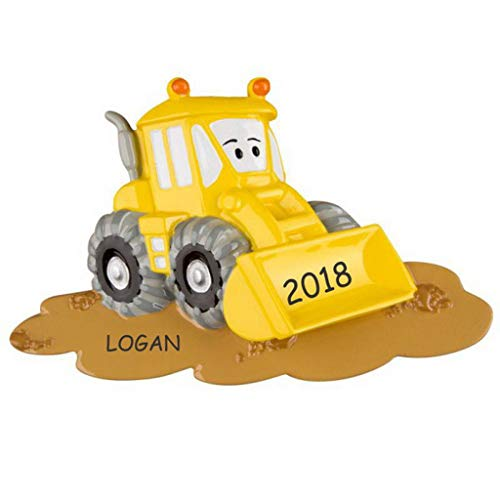 DIBSIES Personalization Station Personalized Truck Kids Christmas Ornament (Bulldozer) ()