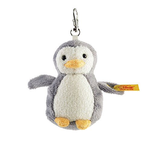 Steiff Key Ring - Steiff Keyring Penguin Plush, Grey/White