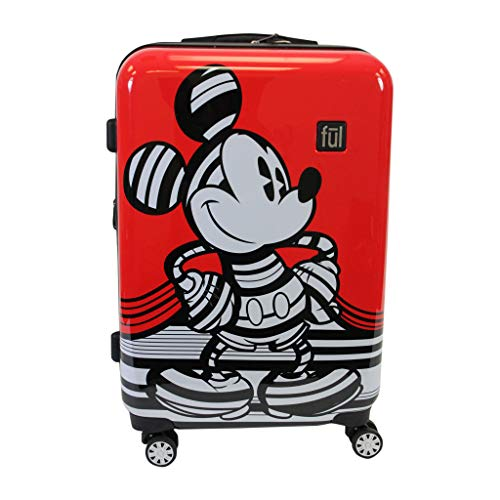 Ful Striped Mickey Mouse Spinner Luggage (29)]()