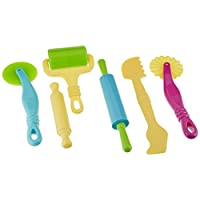 Kit de herramientas de masa multifuncional de lujo Rimobul para niños - Surtido de 6 piezas