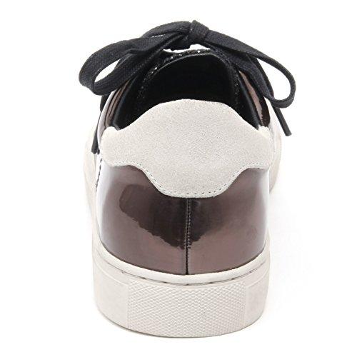 Bassa Sneaker nero Woman Donna Glitter Crime London Shoe Scarpa Marrone B6574 SBqwF5