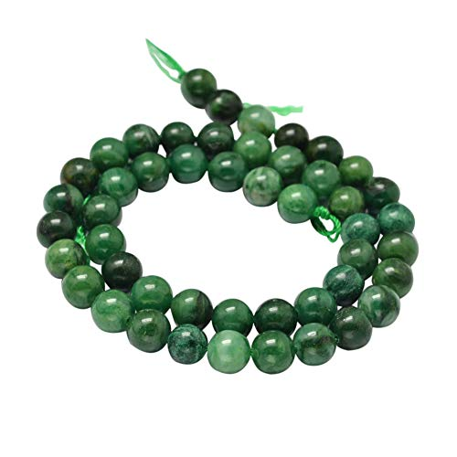 PH PandaHall 3 Strands 6mm Natural African Jade Gemstone Round Loose Stone Beads for Jewelry Making 15.5