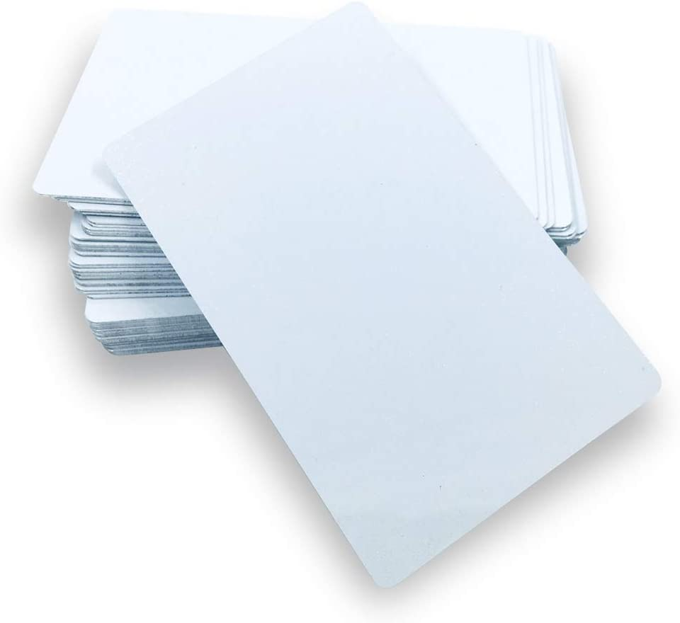 100X Blank Aluminium Metal Cards Sublimation Dye Business 86*54mm Marks Printing