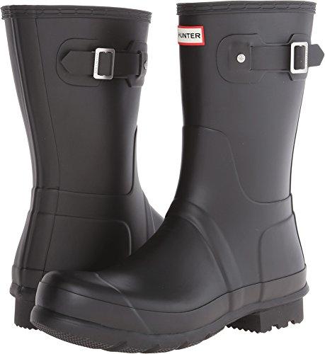 Hunter Boots Men's Original Short Boots, Black, 13 D(M) US by Hunters