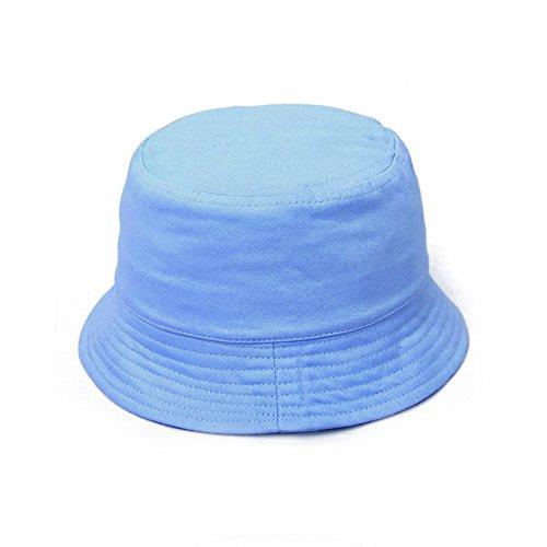 Opromo Kids Bucket Hat Cotton Twill Children Summer Outdoor Sun Protection Hat