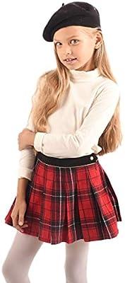 Falda Plisada escocesa – niña de 2 a 12 años – London rojo rojo ...