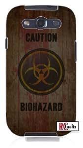 diy phone caseCool Painting CAUTION Distressed Bio-Hazard Symbol - Biohazard Unique Quality Soft Rubber Case for Samsung Galaxy S4 I9500 - White Casediy phone case