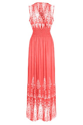 G2 Chic Women's Spring Printed Patterned Summer Maxi Dress Plus And Regular Sizes(DRS-MAX,LRD-3X)