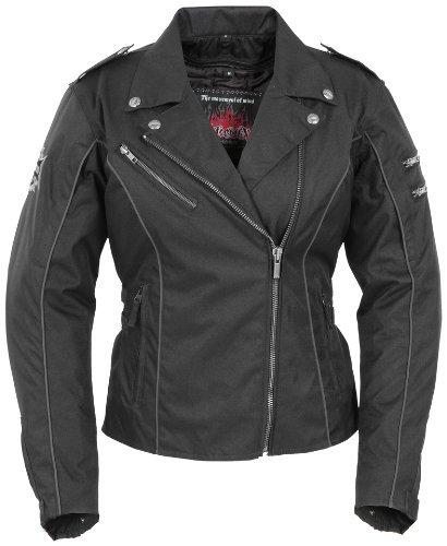Pokerun Mirage 2.0 Women's Textile Cruiser Motorcycle Jacket - Black / (Mirage 2.0 Jacket)