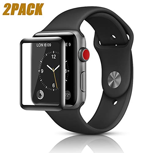 YICTONE for Apple Watch Series 4 Screen Protector 44mm [2 Pack][3D Tempered Glass Full Coverage][Scratch Resistant][Waterproof] Tempered Glass Film for Apple iWatch (44mm)