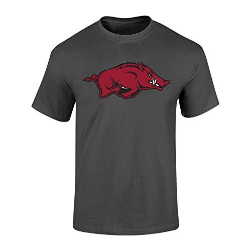 Elite Fan Shop Arkansas Razorbacks Tshirt Heather Gray - - Razorbacks Arkansas Fan