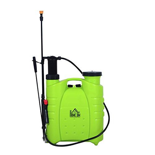 homcom-4-gallon-manual-hand-pumped-backpack-sprayer-green