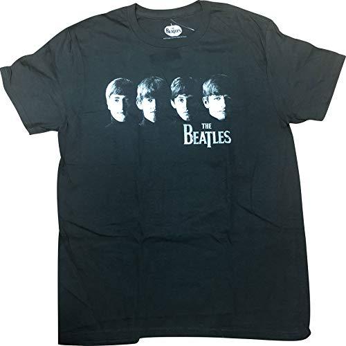 The Beatles Paul,John,Ringo, George Vintage Adult T-Shirt Large Black