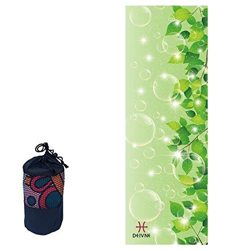 Super Weich, Schweiß saugfähig Yoga Handtuch, 182,9x 61cm perfekt Mikrofaser Yoga Handtuch für Fitness mit Paket Tasche grün