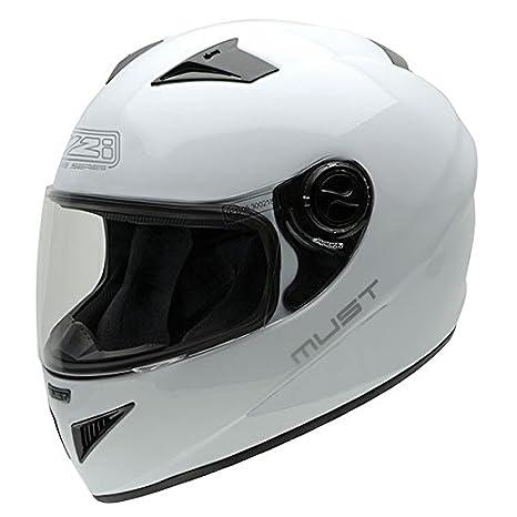 NZI Must II Casco de Moto, Blanco, 59-60 (L)