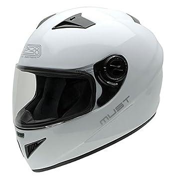 NZI Must II Casco de Moto, Blanco, 56 (S)