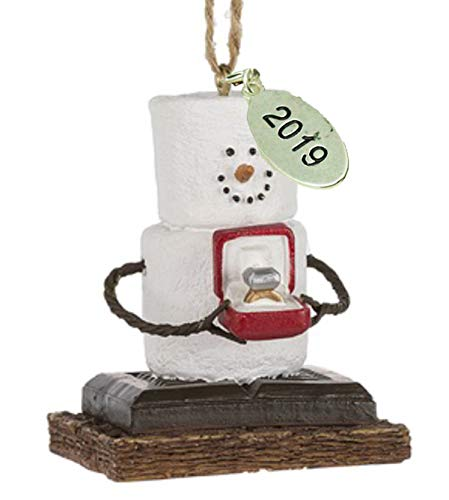 Twisted Anchor Trading Co Smores Ornament - Engagement Ornament 2019 Just Engaged Ornament - Comes in Gift Box