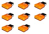 8 x Quantity of Hubsan X4 H107D USB 2.0 Micro SD SDHC TF Memory Card Reader Adapter Hi-Speed up to 32GB Orange
