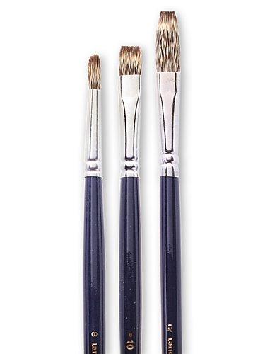 (3 Langnickel Royal Sable Long Handle Bright Brushes Size)
