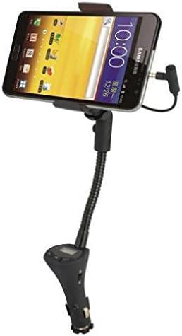 ZTE Zmax Pro Z981 Compatible todo en uno para coche Transmisor de radio FM Soporte de carga extra USB puerto dock soporte cuello de cisne giratorio manos libres: Amazon.es: Electrónica