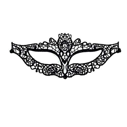 iMapo Masquerade Mask for Women, Mardi Gras Lace Masks, Cosplay Venetian Party Prom Ball Christmas Halloween Eye Lady Masks - Catwoman (Black) -