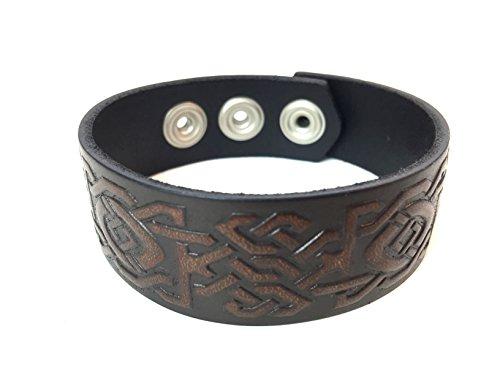 Warehouse 400 Celtic Leather Bracelet For Men And Women  Unity  Mens