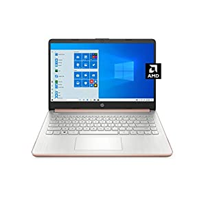 HP – 14-fq0030nr 14 Laptop, AMD 3020e, 4 GB RAM, 64 GB eMMC Storage, 14-inch HD Display, Windows 10 Home in S Mode, Long Battery Life, Microsoft 365, (14-fq0030nr, 2020) Pale Rose Gold
