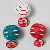 DOG TOY BONE AND BALL ASSORTMENT W/SQUEAKER 3 COLORS IN PDQ, Case Pack of 96