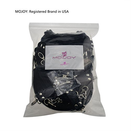 MOJOY Bed Restraints Bondage Kit, Fetish BDSMS Restraints for Sex Play Sex Toys for Couples (Black) by MOJOY (Image #8)
