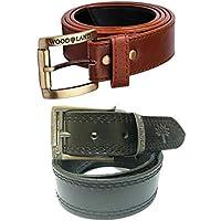 mbtees Men's Brown Belt Combo Pack (Free Size)