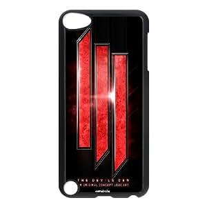 Skrillex Logo H1P69M5OF funda iPod Touch 5 caso funda 07Y26X negro