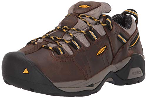 KEEN Utility Women's Detroit XT (Steel Toe) Internal Met Guard Work Boot for Construction Industrial, Cascade Brown/Goldenrod, 11 M US (Womens Steel Toe Boots With Metatarsal Guard)