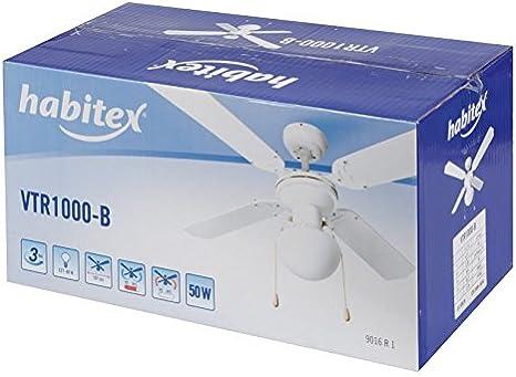Habitex 9016R1 - Ventilador Techo Mod Vtr 1000 Bl: Amazon.es ...