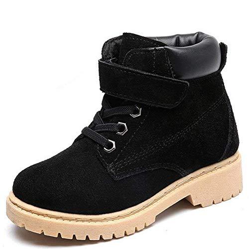 Vextrofort Kids Boots, Winter Outdoor Waterproof Hiking Leather Boot for Boys Girls (Little Kids/Big Kids) (Shoes Inner Length 8.3