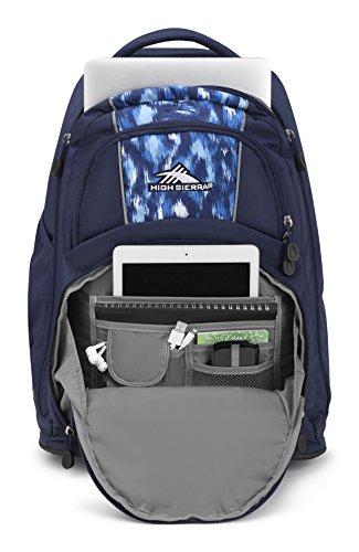 High Sierra Freewheel Wheeled Laptop Backpack, True Navy/Island Ikat by High Sierra (Image #3)