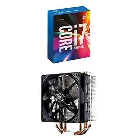 Intel Boxed Core I7-6700K 4.00 GHz 8M Processor Cache 4 LGA 1151 BX80662I76700K with Cooler Master Hyper 212 EVO - CPU Cooler with 120mm PWM Fan