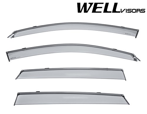Mercedes Benz Visor (WellVisors Side Window Wind Deflector Visors - Mercedes Benz GLC Class X253 16-up 2016 2017 With Black Trim)